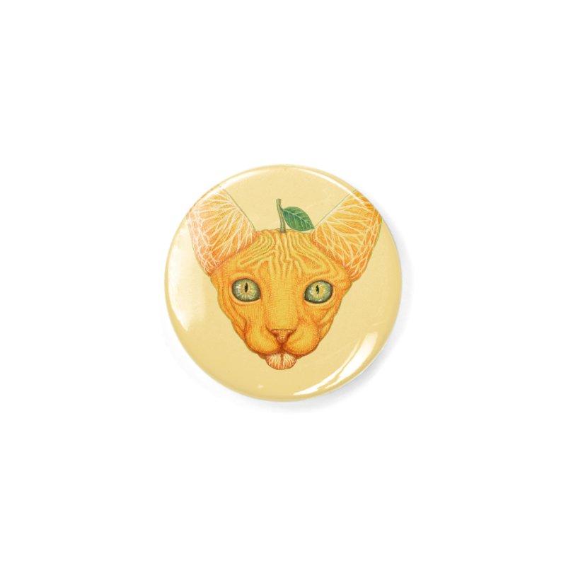 Orange cat Accessories Button by makapa's Artist Shop