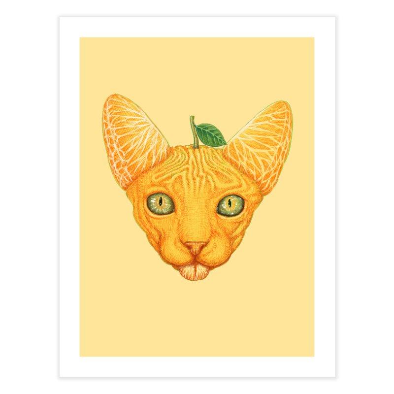 Orange cat Home Fine Art Print by makapa's Artist Shop