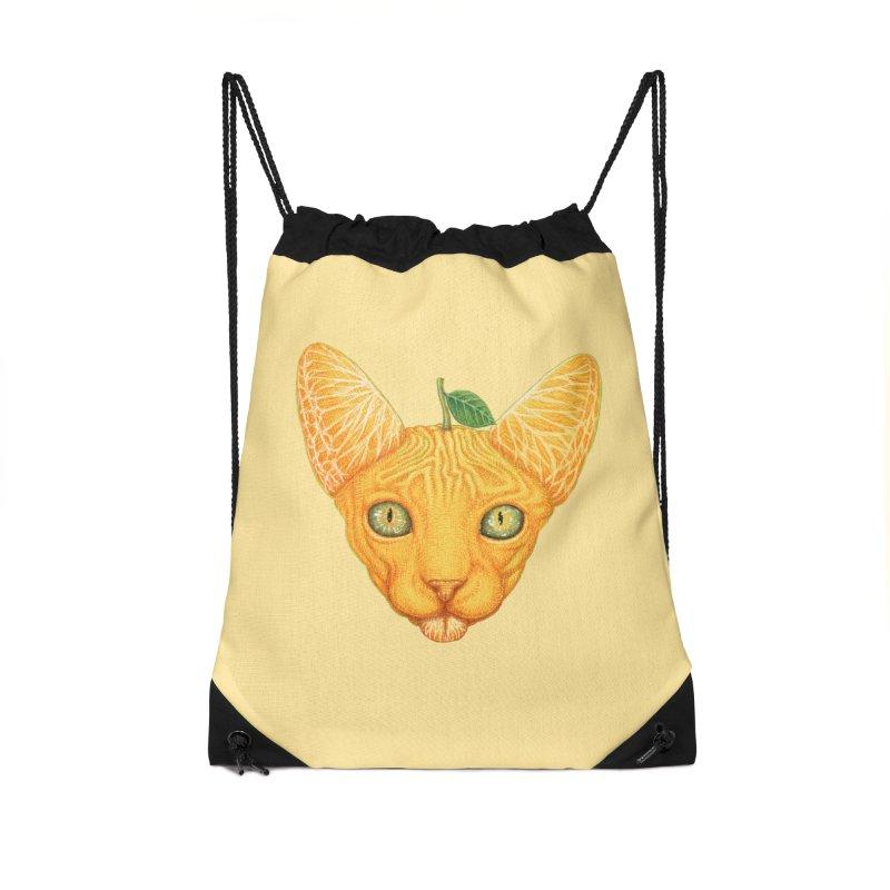Orange cat Accessories Bag by makapa's Artist Shop
