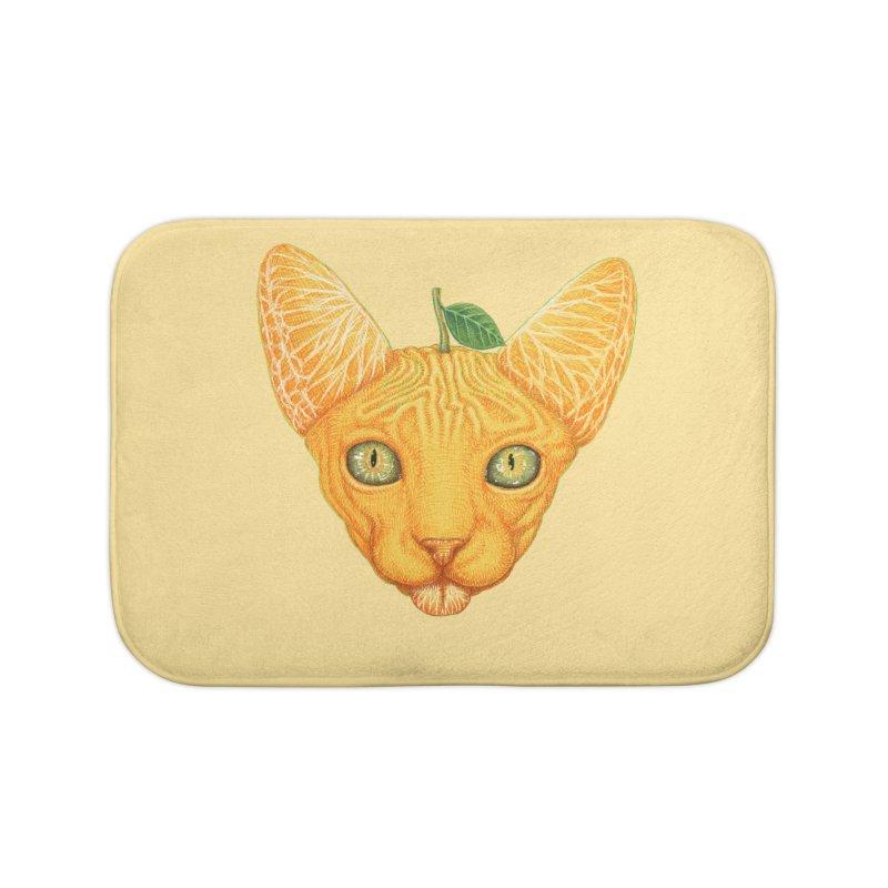 Orange cat Home Bath Mat by makapa's Artist Shop