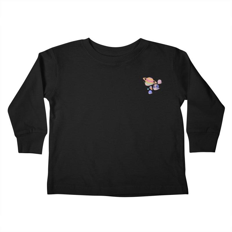 Universe walk (mini) Kids Toddler Longsleeve T-Shirt by makapa's Artist Shop