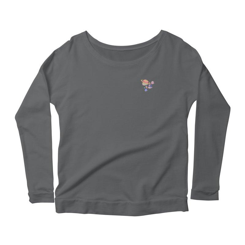 Universe walk (mini) Women's Longsleeve T-Shirt by makapa's Artist Shop