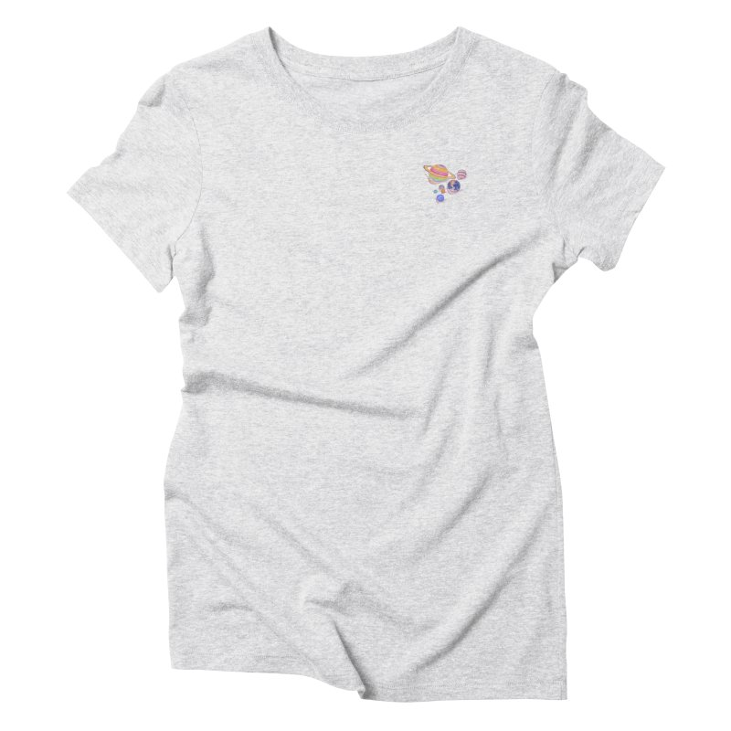 Universe walk (mini) Women's T-Shirt by makapa's Artist Shop