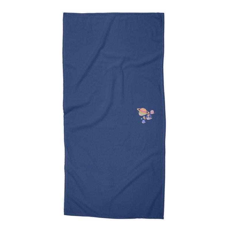 Universe walk (mini) Accessories Beach Towel by makapa's Artist Shop