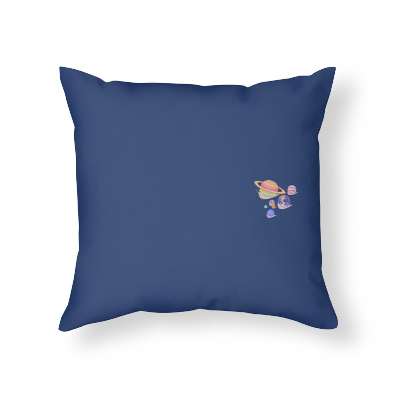 Universe walk (mini) Home Throw Pillow by makapa's Artist Shop