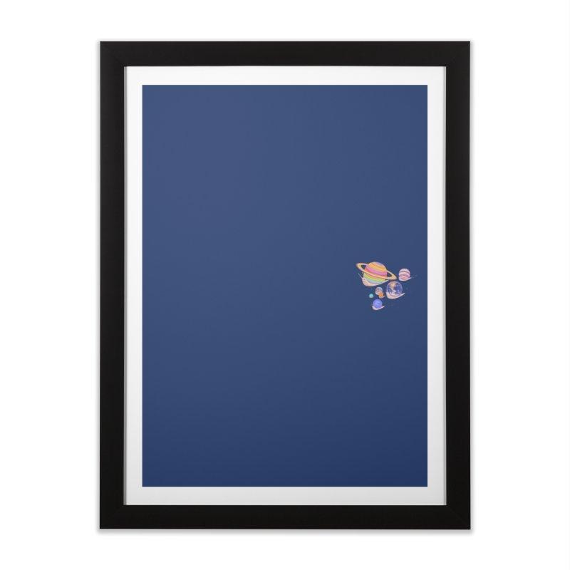 Universe walk (mini) Home Framed Fine Art Print by makapa's Artist Shop