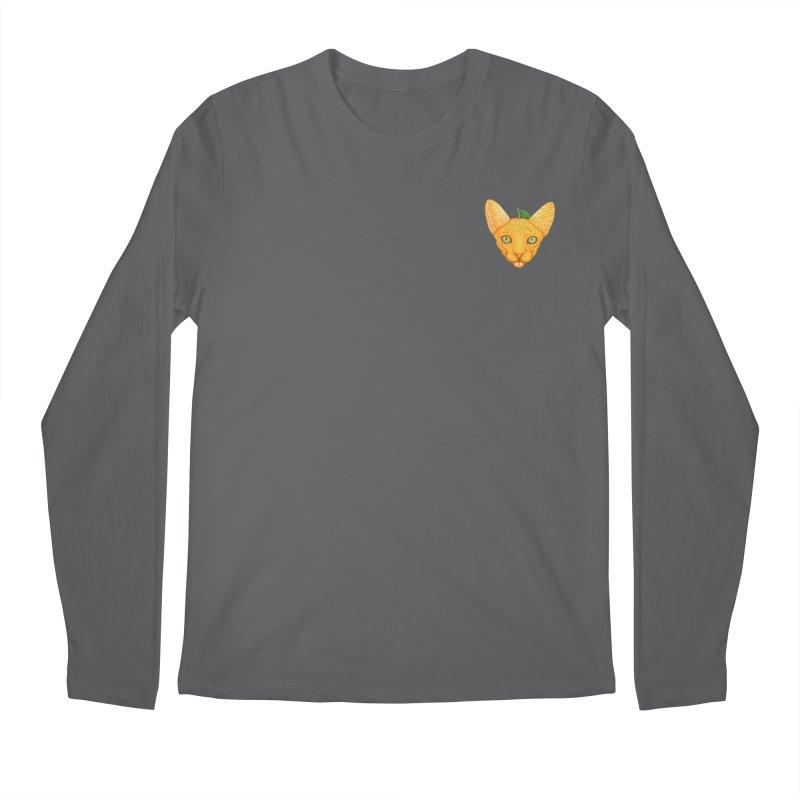 Orange cat (mini) Men's Longsleeve T-Shirt by makapa's Artist Shop