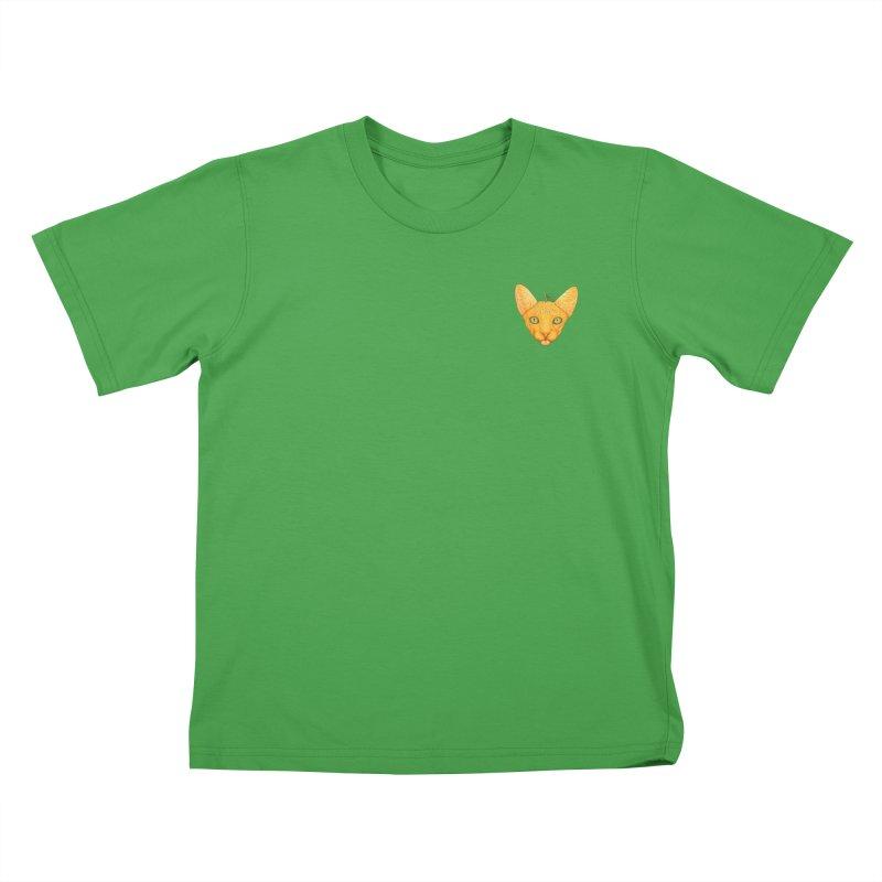 Orange cat (mini) Kids T-Shirt by makapa's Artist Shop