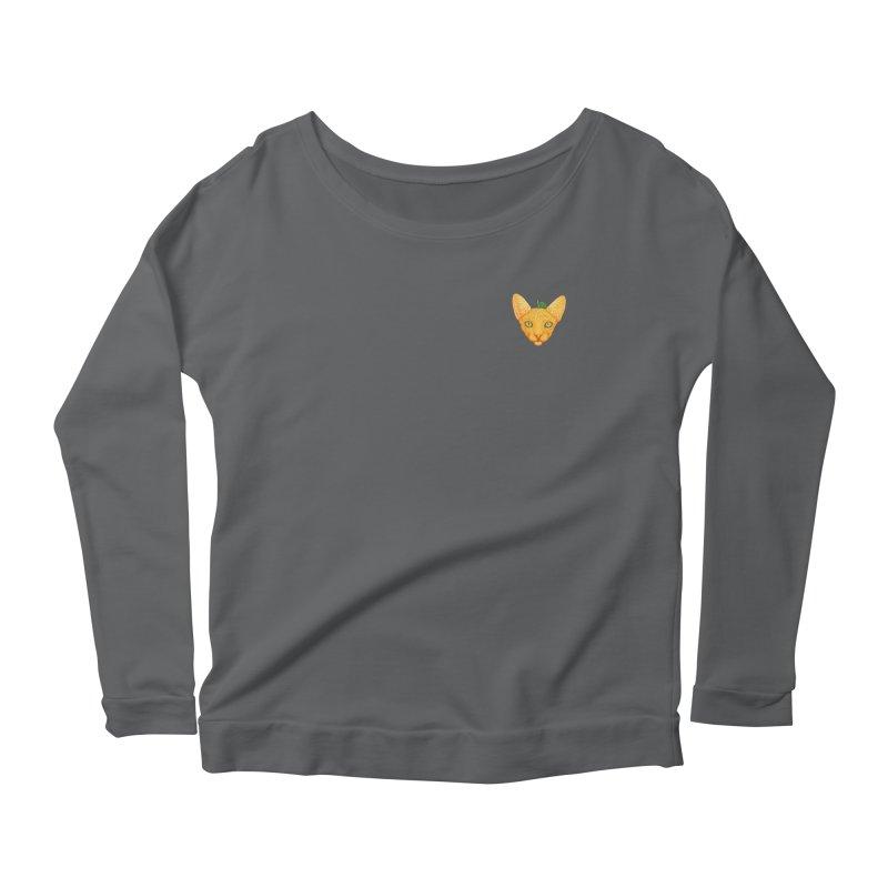 Orange cat (mini) Women's Longsleeve T-Shirt by makapa's Artist Shop