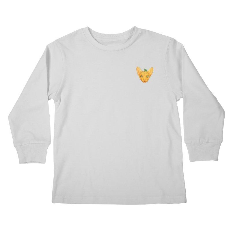 Orange cat (mini) Kids Longsleeve T-Shirt by makapa's Artist Shop