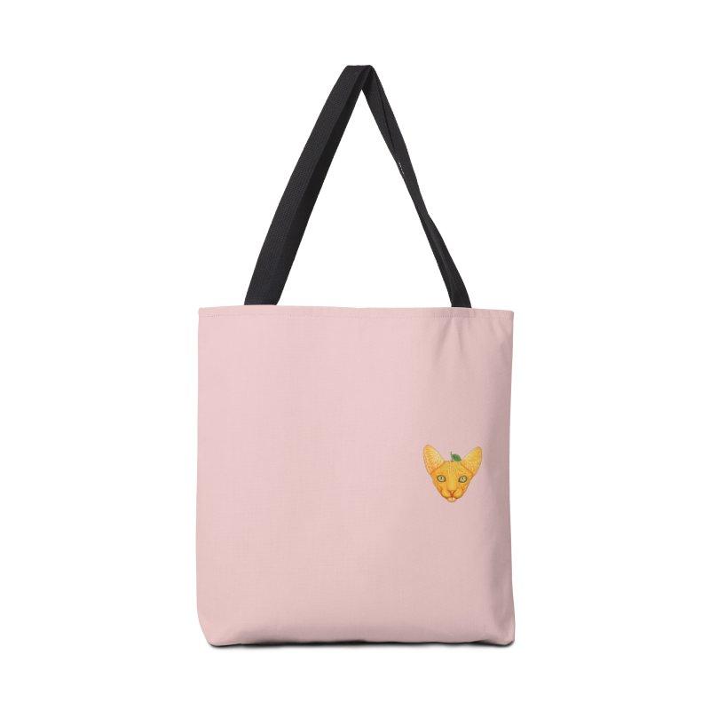 Orange cat (mini) Accessories Bag by makapa's Artist Shop