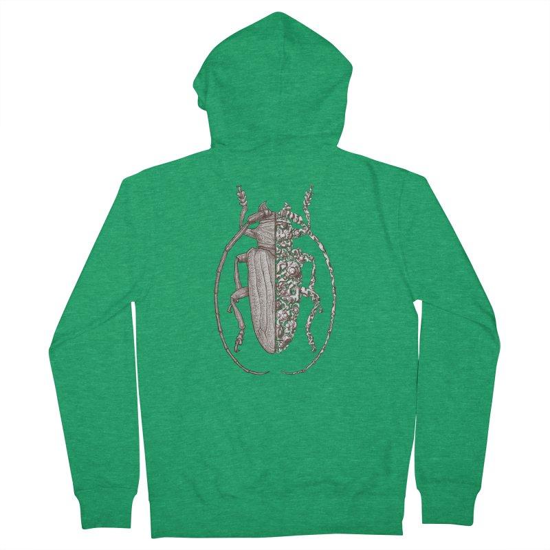 Sternotomis sci-fly Men's Zip-Up Hoody by makapa's Artist Shop