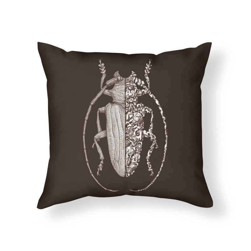 Sternotomis sci-fly Home Throw Pillow by makapa's Artist Shop