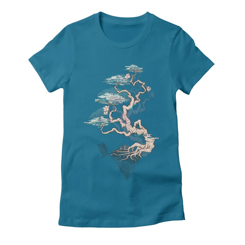aesthetic future Women's Fitted T-Shirt by makapa's Artist Shop