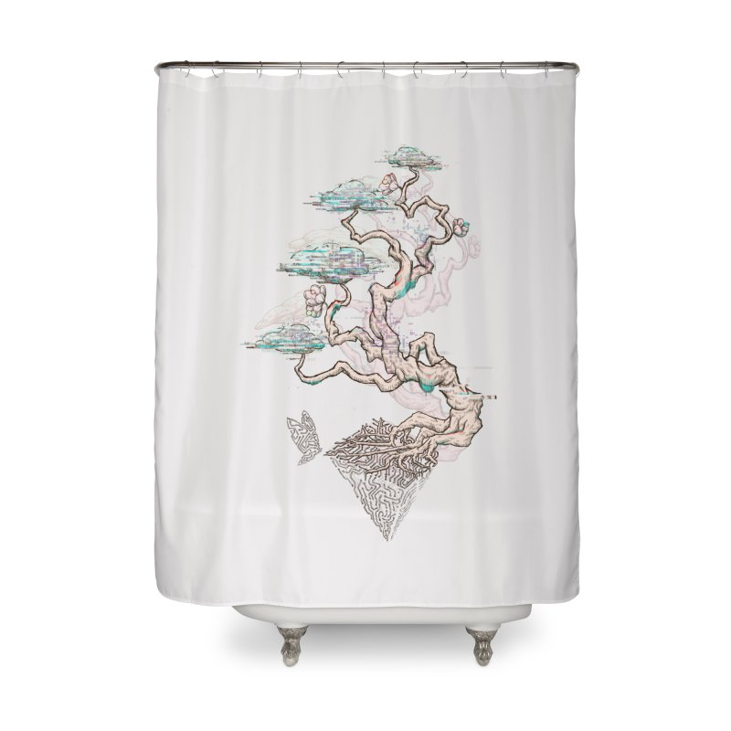 aesthetic future Home Shower Curtain by makapa's Artist Shop