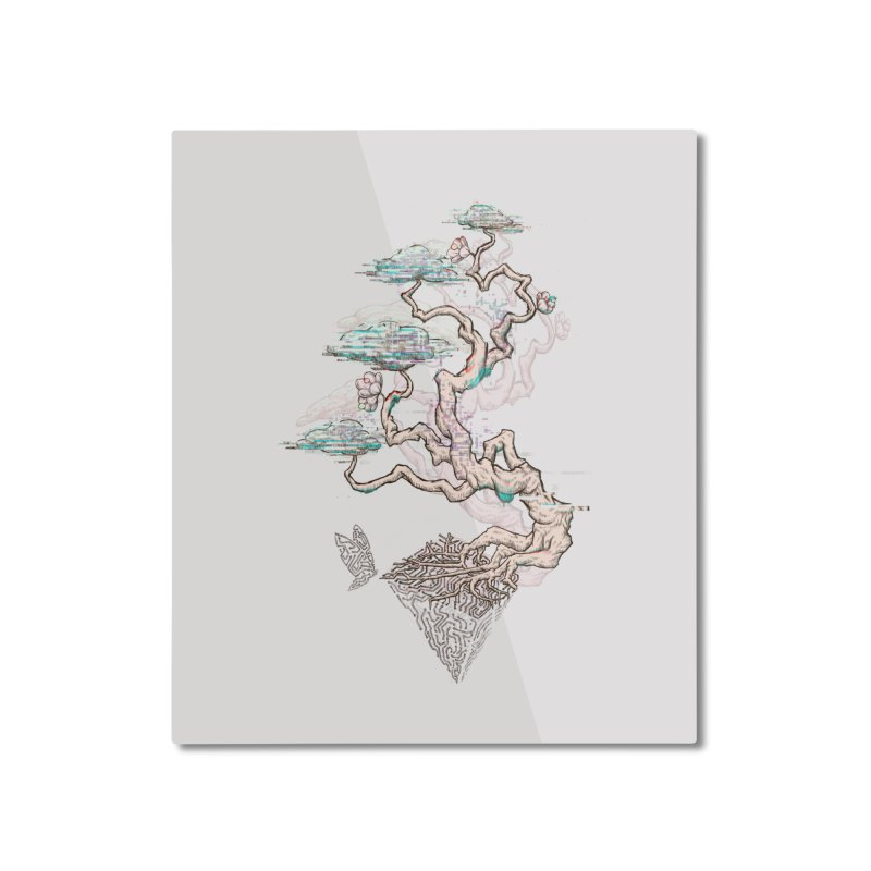 aesthetic future Home Mounted Aluminum Print by makapa's Artist Shop