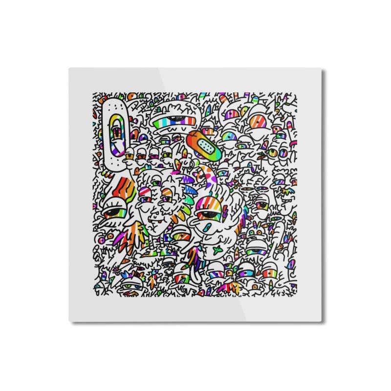Love pride freedom Home Mounted Aluminum Print by makapa's Artist Shop