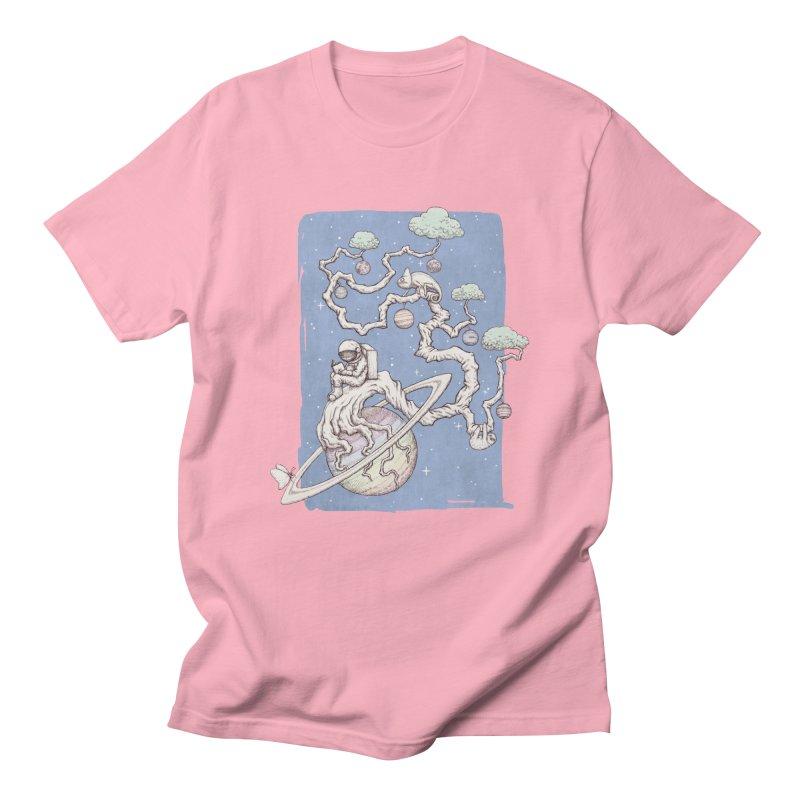 zen on space Men's T-Shirt by makapa's Artist Shop