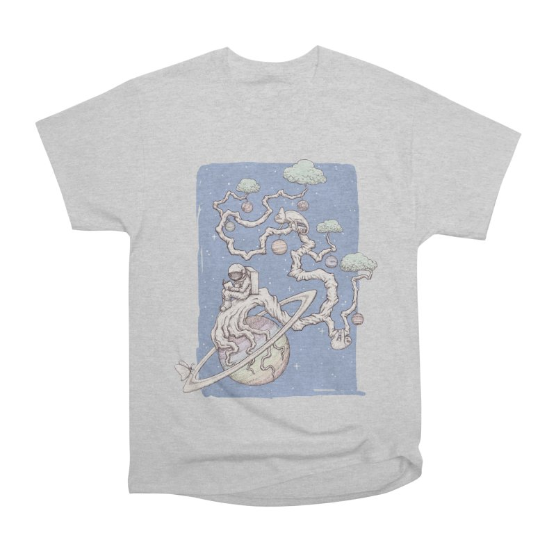 zen on space Men's Heavyweight T-Shirt by makapa's Artist Shop