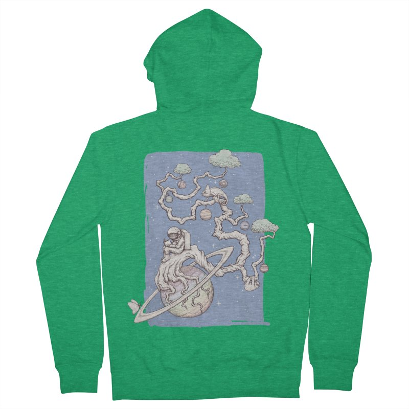zen on space Men's Zip-Up Hoody by makapa's Artist Shop