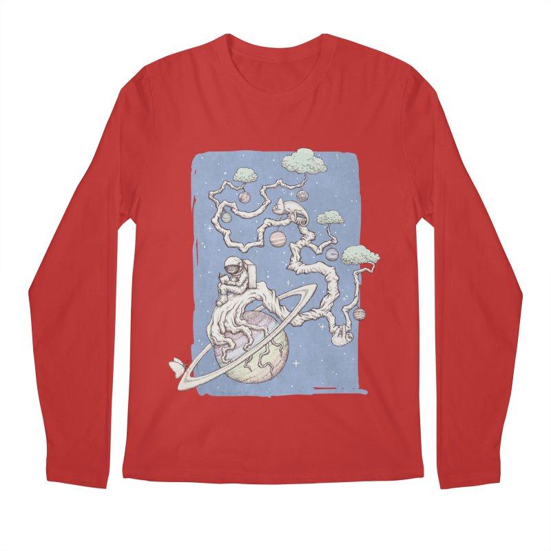 zen on space Men's Regular Longsleeve T-Shirt by makapa's Artist Shop