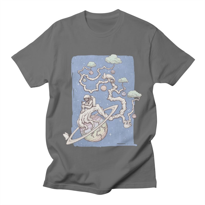 zen on space Men's T-Shirt by makapa's Artist Shop