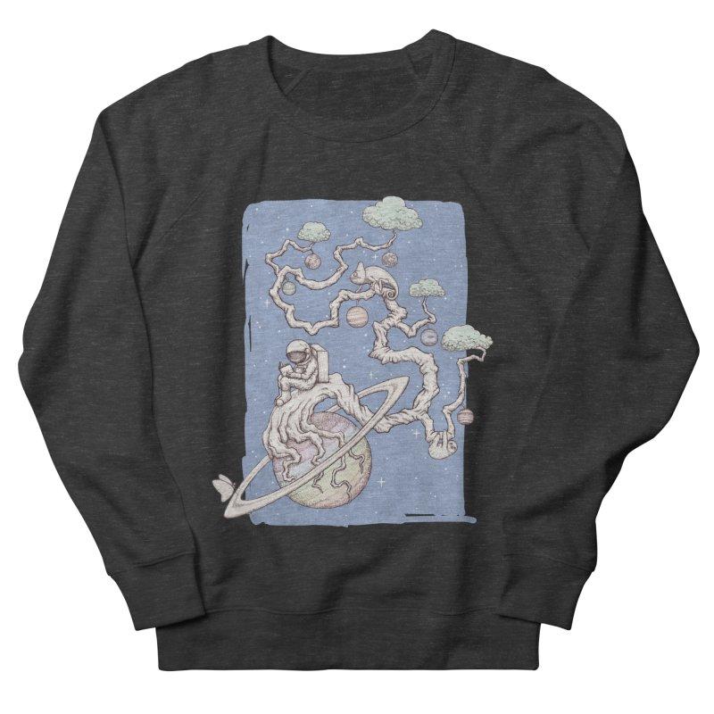 zen on space Men's French Terry Sweatshirt by makapa's Artist Shop