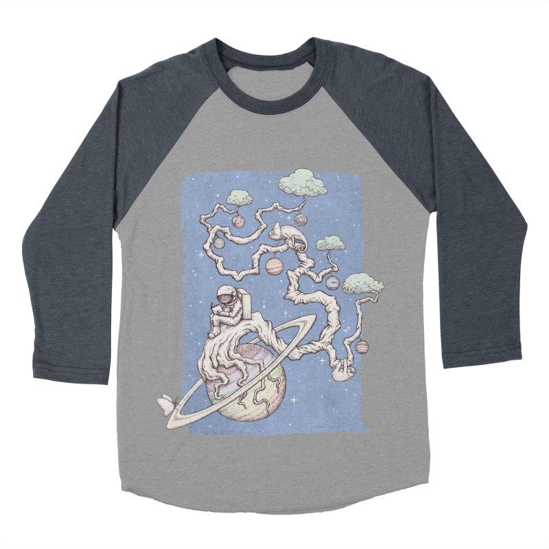 zen on space Men's Baseball Triblend T-Shirt by makapa's Artist Shop