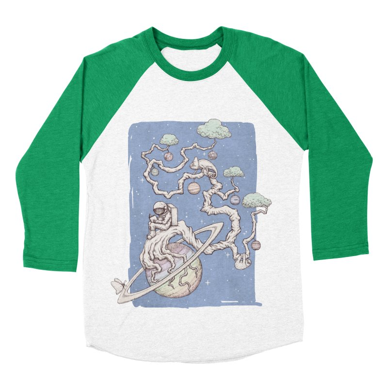 zen on space Men's Baseball Triblend T-Shirt by makapa's Artist Shop