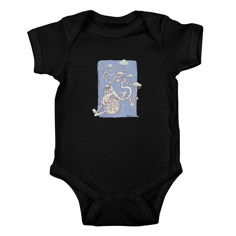 zen on space Kids Baby Bodysuit by makapa's Artist Shop
