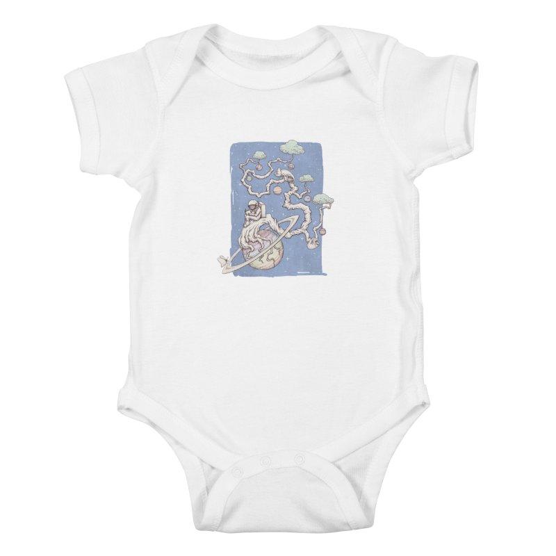 zen on space Kids Baby Bodysuit by makapa's Artist Shop