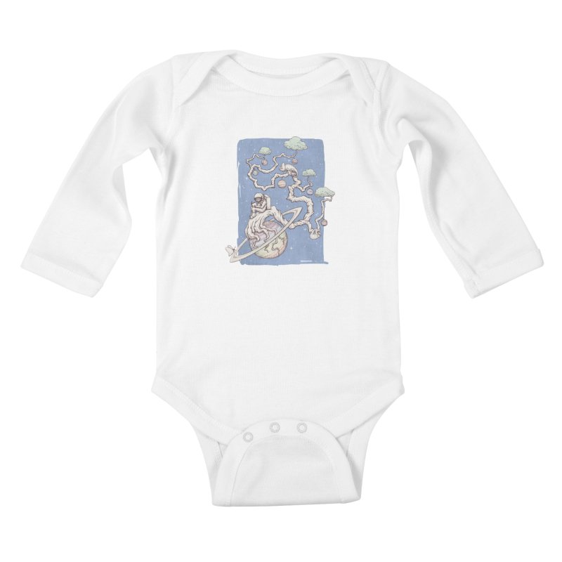 zen on space Kids Baby Longsleeve Bodysuit by makapa's Artist Shop