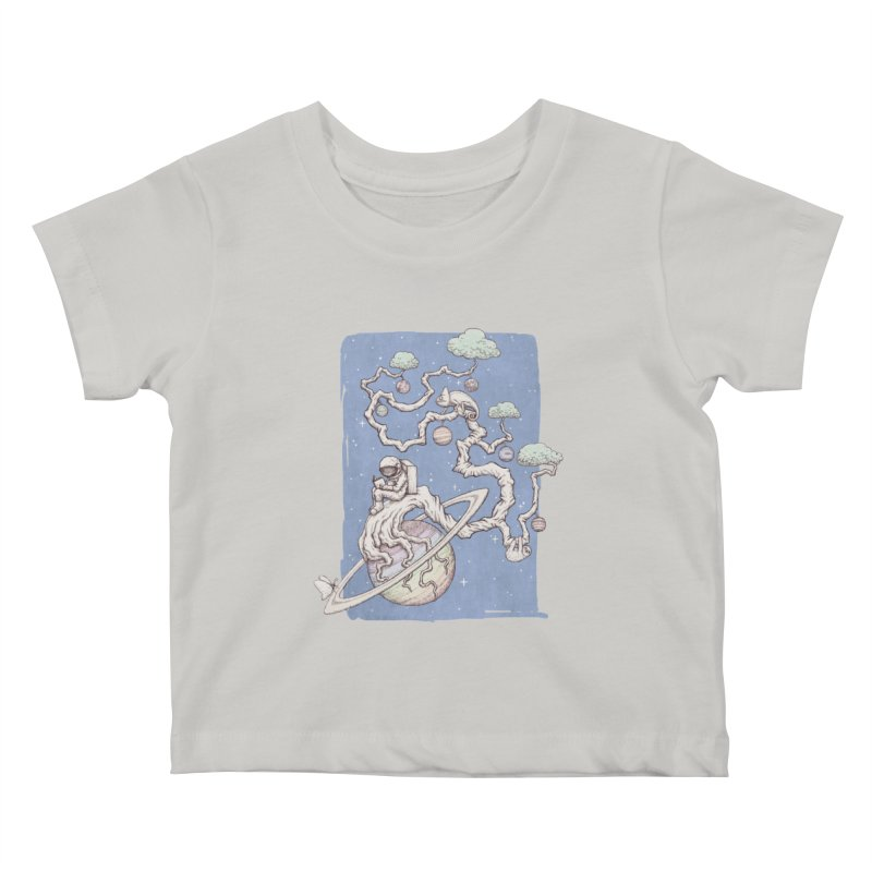 zen on space Kids Baby T-Shirt by makapa's Artist Shop
