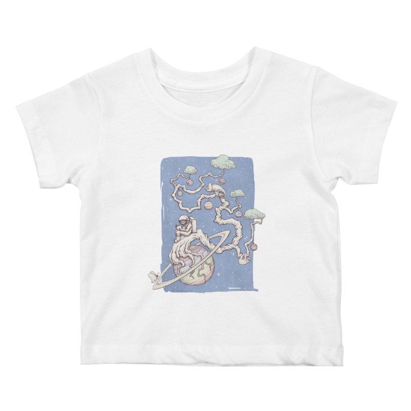 zen on space Kids Baby T-Shirt by makapa's Artist Shop