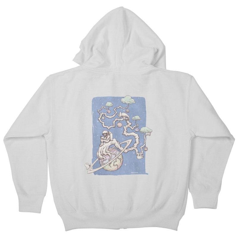 zen on space Kids Zip-Up Hoody by makapa's Artist Shop