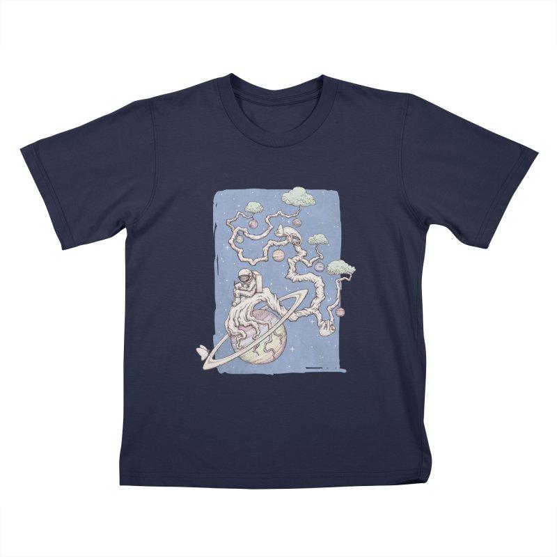 zen on space Kids T-Shirt by makapa's Artist Shop