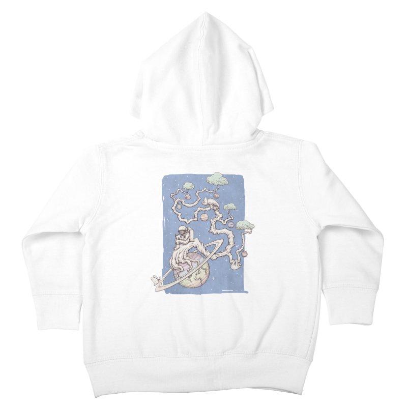 zen on space Kids Toddler Zip-Up Hoody by makapa's Artist Shop