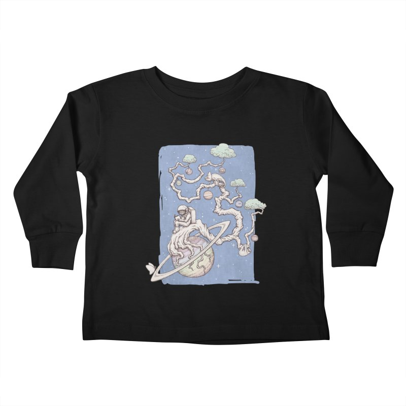 zen on space Kids Toddler Longsleeve T-Shirt by makapa's Artist Shop