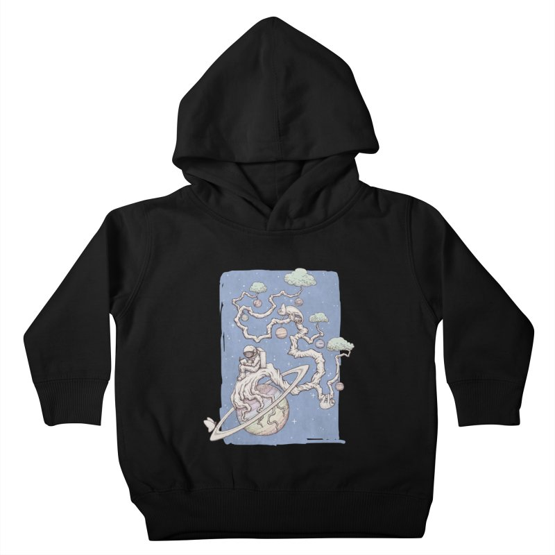 zen on space Kids Toddler Pullover Hoody by makapa's Artist Shop