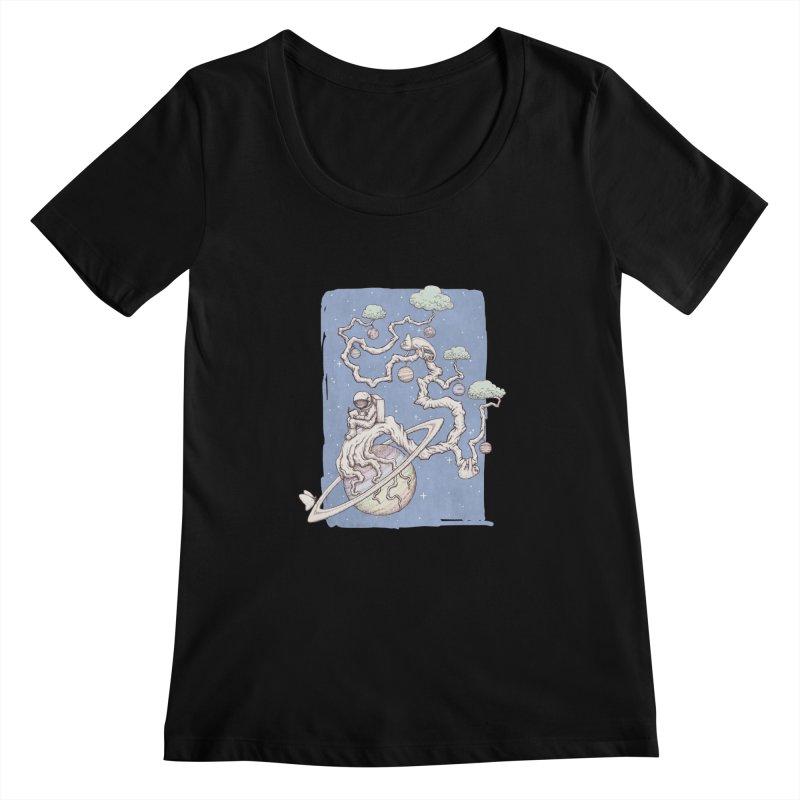 zen on space Women's Scoopneck by makapa's Artist Shop