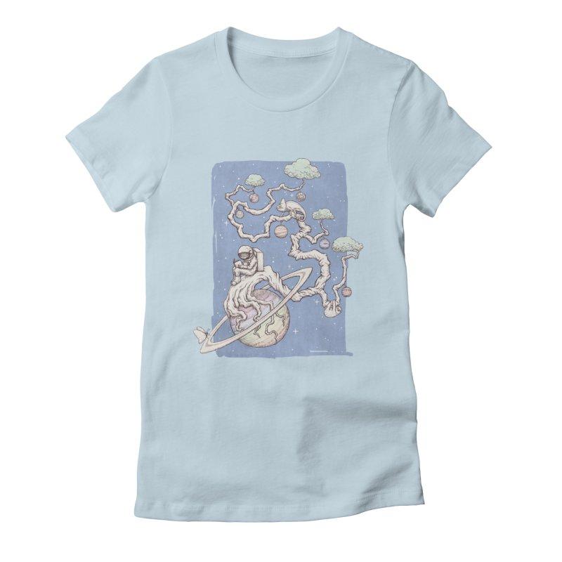 zen on space Women's Fitted T-Shirt by makapa's Artist Shop