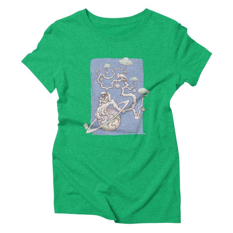 zen on space Women's Triblend T-Shirt by makapa's Artist Shop