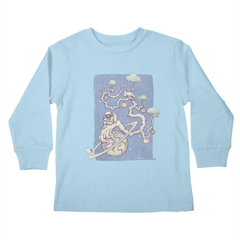 zen on space Kids Longsleeve T-Shirt by makapa's Artist Shop