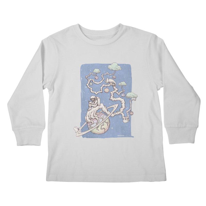zen on space Kids Longsleeve T-Shirt by makapa's Artist Shop