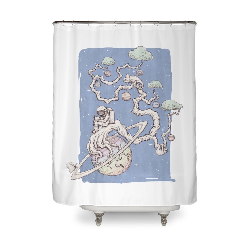 zen on space Home Shower Curtain by makapa's Artist Shop