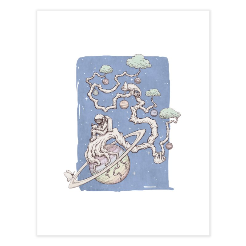 zen on space Home Fine Art Print by makapa's Artist Shop