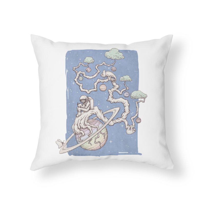zen on space Home Throw Pillow by makapa's Artist Shop