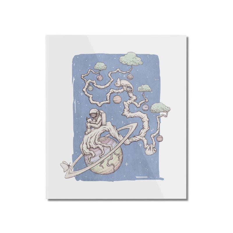 zen on space Home Mounted Acrylic Print by makapa's Artist Shop