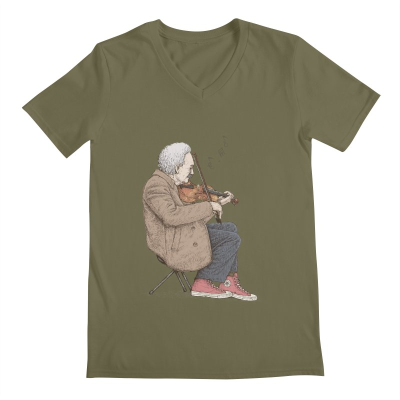 holiday of the scientist Men's V-Neck by makapa's Artist Shop