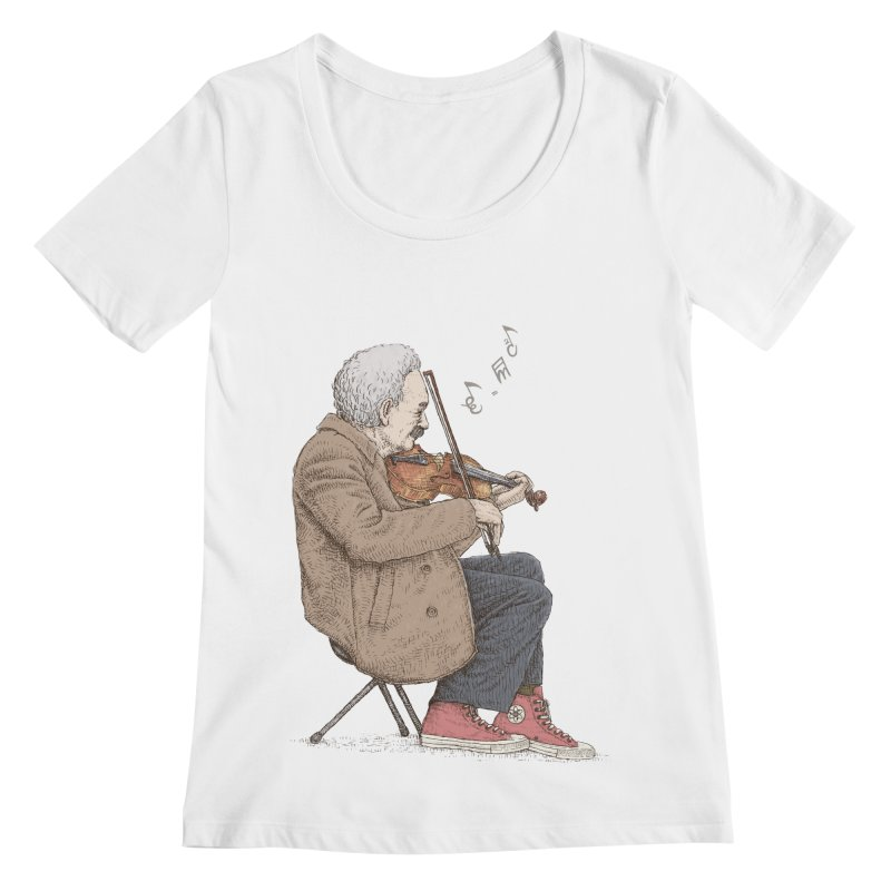 holiday of the scientist Women's Scoopneck by makapa's Artist Shop
